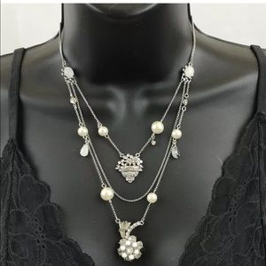 Betsey Johnson 3 Strand Necklace All That Glitters
